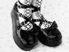 patent leather lolita creepers
