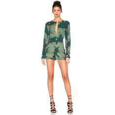 STONE_COLD_FOX Siena Jumper Rompers ($465) ❤ liked on Polyvore featuring jumpsuits, rompers, rompers & jumpsuits, stone_cold_fox, silk romper, jump suit, romper jumpsuit and playsuit romper