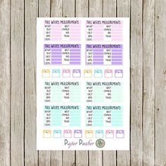 Weight Loss Tracker Planner Stickers Made To Fit Most Planners, Happy Planner, Erin Condren Life Planner, Filofax, Kikki K, Color Crush, Project Life