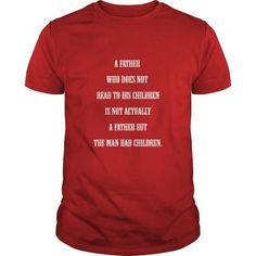 Awesome Tee    Cool T Shirts Red -  A Father Who Does Not Read - Best Sale Shirts & Tees