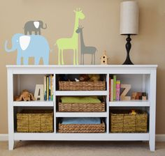 Elephants and Giraffes Decals, Nursery Wall Decal, Children's Wall Decal,  Vinyl Removable Decal