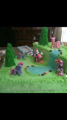 Easy but AWESOME My Little Pony Cake for my 5 year old girl - 0