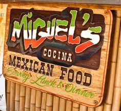Miguel's Cocina, Coronado Island: the best Mexican food on the island! Try the white sauce :)