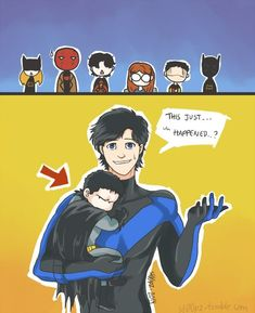 What happened during the gap of Young Justice? Where do the Teen Titans fit in? Particularly Nightwing/Robin angst. Nightwing, Batgirl, Catwoman, Batman Y Superman, Son Of Batman, Batman Robin, Spiderman, Tim Drake, Damian Wayne