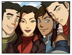 Legend of Korra The amount of smile, declining from left to right. Mako's such a pouty-baby! c'mon, smile for us...?