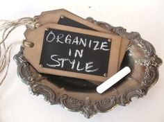 chalkboard  tag...maybe I would use these on items in my own store...