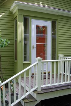 Image result for front porch with side steps