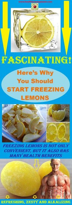 Here's Why You Should Start Freezing Lemons - FASCINATING! The next time you find a bag of Lemons for a good deal, save them in the freezer. Can You Freeze Lemons, Freezing Lemons, Freezing Fruit, Water Benefits, Lemon Benefits, Health Benefits, Health And Nutrition, Health And Wellness, Health Tips