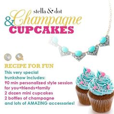 Champagne & Cupcakes   Trunk Show Food & Drink by Stella & Dot