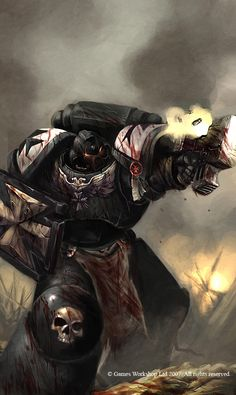 """Hail Brethens! This is a special cover for the """"Damnation Crusades"""" Issue 3 comic. I suppose it's limited(I'm only guessing). This is one of my more ambitious cover for the 40K series, because it h..."""