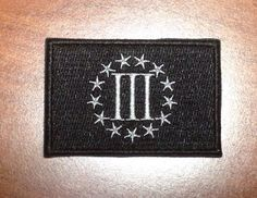 Three Percenter Velcro Backed Morale Patch Black And Gray