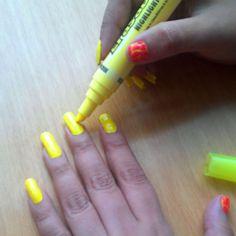 Mayger highlighter nails :-)