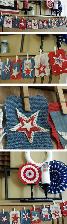 No Sew Patriotic Burlap Bunting — Saved By Love Creations