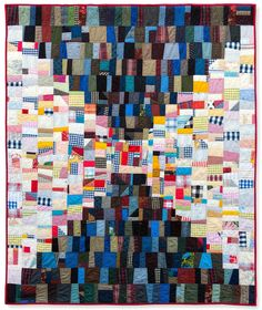"""I finished quilting and binding this quilt over the weekend, washed it and took a nap under it today!       75"""" x 66""""              Here's t..."""