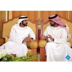 Crown prince of Dubai HH Sheikh Hamdan Bin Mohammed Almaktoum in talk with Ajman Crown Prince HH Sheikh Ammar bin Humaid Al Nuaimi Prince Charming, Muhammad, Dubai, Crown, Instagram, Corona, Crowns, Crown Royal Bags
