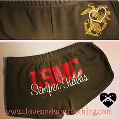 """USMC - Marines - Devil Dogs - Leathernecks - Grunts - Jarheads - Semper Fi - Marine Love - Oorah - Marine Clothing - Marine Shorts"" I want these! Usmc Love, Marine Love, Once A Marine, Military Love, Usmc Clothing, Semper Fi Marines, Marine Outfit, Military Girlfriend, Boyfriend"