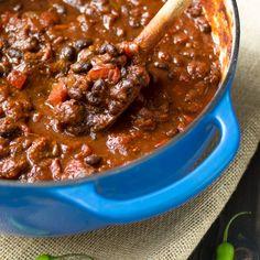 chunky lamb and black bean chilli