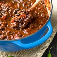 chunky lamb and black bean chilli