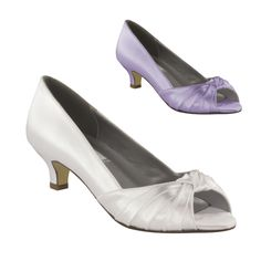 "BECKY WHITE SATIN 1 3/4"" HEEL in Dyeable Shoes - DyeableShoeStore.com"