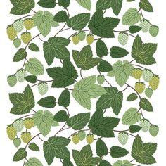 Humlen tyg - Arvidssons Textil → NordicNest.se Textiles, Scandinavian Home, Kitchen Redo, Spring Day, New Set, Framed Art, Plant Leaves, Wallpaper, Pattern
