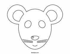 Diy printable rabbit mask diy and crafts templates and kid for Printable mouse mask template