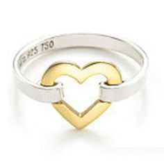 Tiffany Jewelry Gold Heart Connected Ring This Tiffany Jewelry Product Features: Category: Tiffany & Co Rings Material: Sterling Silver