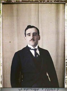 Prijestolonasljednik Aleksandar Karađorđević, kolor snimak, 1919. Foto Albert Kahn.