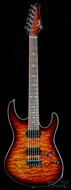 Suhr Custom Modern Inferno Burst w/ Matching Headstock - Wild West Guitars