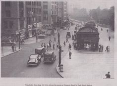 Tremont Street by Park Station, 1942