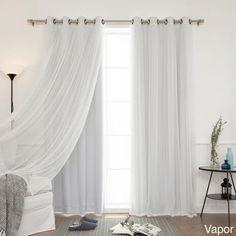 4-piece Sheer Blackout Grommet Top Curtain Panels