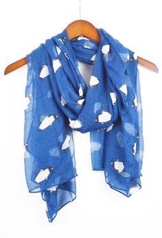 Penguin Scarf Animal Scarf Blue Scarf by knotanotherscarf on Etsy https://www.etsy.com/listing/217231679/penguin-scarf-animal-scarf-blue-scarf