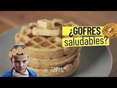 WAFFLES SALUDABLES | Gofres caseros SIN AZÚCAR - YouTube Real Food Recipes, Healthy Recipes, Healthy Food, Catering, Pancakes, Cereal, Sweets, Breakfast, Crepes