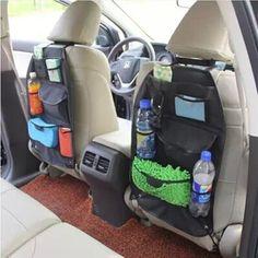 NEW Black Car Auto Vehicle Seat Back Hanger Holder Organizer Pocket Storage Bag