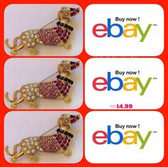 Dachshund dog Fashion Jewelry Swarovski crystal pin brooch Dachshund Doxi USA http://www.ebay.com/itm/-/252026630149?roken=cUgayN