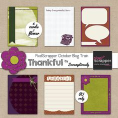 Free Thankful Journal Cards