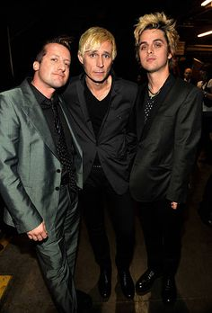 Green Day backstage at the 51st Annual GRAMMY Awards at the Staples Center on February 8, 2009 in Los Angeles, California.