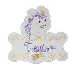 Unicorn Personalized Name Patch Name Patches, Sew On Patches, Iron On Patches, Custom Design, Disney Characters, Fictional Characters, Aurora Sleeping Beauty, Snoopy