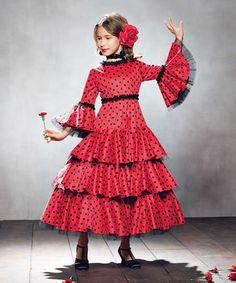 Another great find on #zulily! Red Flamenco Dancer Dress - Girls #zulilyfinds
