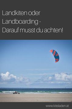 Wer mit dem Kite nicht oder nur ab und zu aufs Wasser kann oder will, der kann sich auch im Landkiten oder Landboarding versuchen. Der Unterschied zum Kitesurfen ist, dass man nicht am Wasser, sondern an Land mit einem ATB Board (All Terrain Board) unterwegs ist. Erfahre in diesem Beitrag mehr zum Thema Landkiten und Landboarden! #landkiten #landboarding Action Sport, Side, Beach, Outdoor, Diving, Travel Advice, Vacations, Outdoors, Seaside