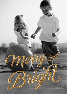 Merry And Bright Photo Card - The Fancy Envelope
