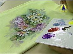 ▶ Vida com Arte | Adesivagem em Pano de Prato Motivo Margarida por Luís Moreira - 06 de Agosto - YouTube