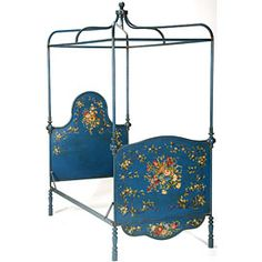 Italian Bird Venice bed by Brighton Pavilion. An entire line of hand-painted furniture.