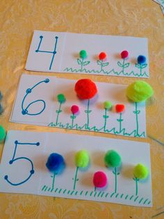 Awesome Incredible Spring Garden Crafts and Activities for Kids homegardenma… - Preschool Children Activities Numbers Preschool, Preschool Classroom, Preschool Learning, Kindergarten Math, Preschool Activities, Counting Activities, Preschool Pictures, Learning Numbers, Time Activities