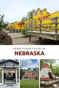 List of incredibly unique overnight experiences in Nebraska - From glamping to sleeping in a corn crib or teepee Best Places To Travel, Places To Go, South Sioux City, Vacation Trips, Vacation Ideas, Vacations, Unique Cottages, Lincoln Nebraska, Travel Usa