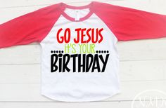 Jesus Christmas Shirt Funny Christmas Tee Go by NylaMarieKids