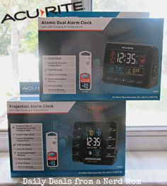 Daily Deals from a Nerd Mom reviewed our projection alarm clocks! View this product at http://www.acurite.com/clocks/projection-clocks.html