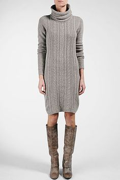 sweater dress + boots