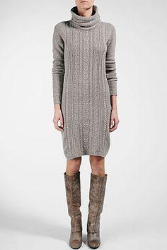 sweater dress + boots