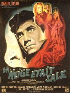 """Locandina di """"La Neige Etait Sale"""" di Luis Saslavsky (1953)."""