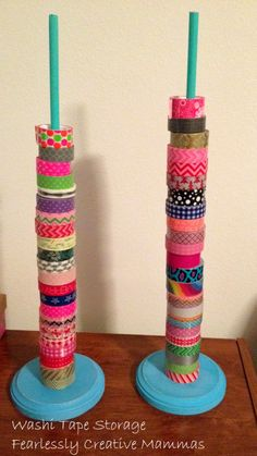 Great ideas for Washi Tape and ribbon storage